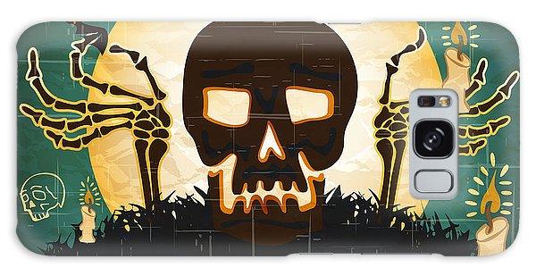 Calavera Galaxy Case - Print - Mexican Sugar Skull, Day Of The by Rra79