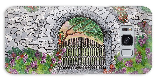 Private Garden At Sunset Galaxy Case