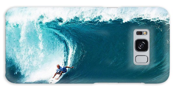 Pro Surfer Kelly Slater Surfing In The Pipeline Masters Contest Galaxy Case
