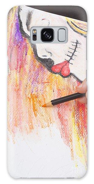 Voodoo Galaxy Case - Professional Artist Illustrating Sugar Skull Girl by Jorgo Photography - Wall Art Gallery