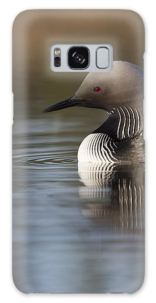 Profile Of A Pacific Loon Galaxy Case by Tim Grams