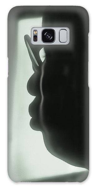 Profile Of A Woman Galaxy Case by Kellice Swaggerty