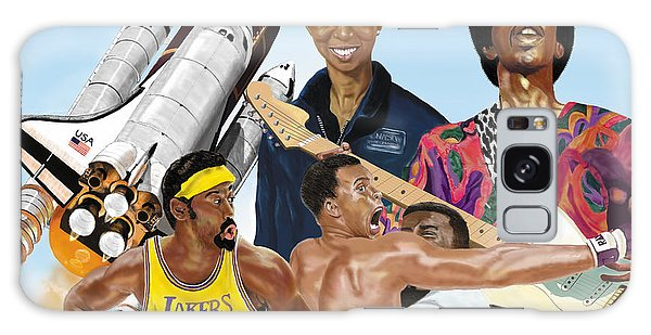 Jimi, Muhammad Ali, Wilt Chamberlain And Mae Carol Jemison Galaxy Case