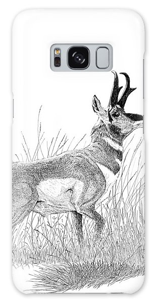 Pronghorn Galaxy Case by Carl Genovese