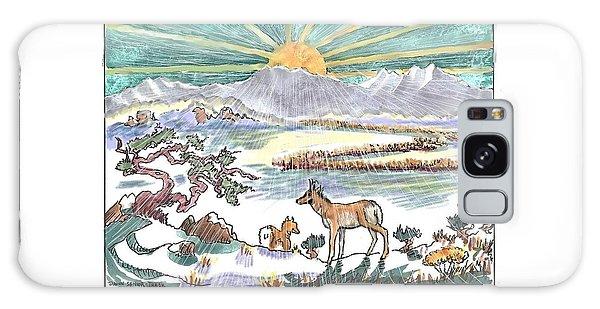 Pronghorn Winter Sunrise Galaxy Case