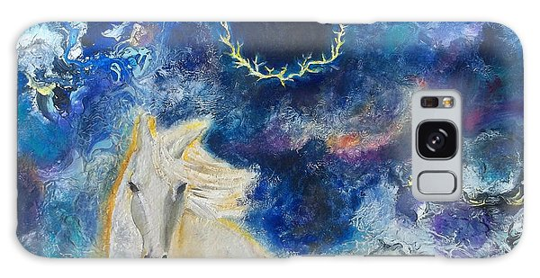 Prophetic Message Sketch Painting 6 Ring Of Lightning White Horse Galaxy Case