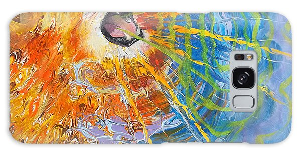 Prophetic Sketch Painting 25 Lion Of Judah Awakens With A Roar Galaxy Case
