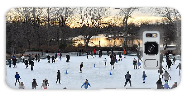 Prospect Park Skating Rink At Sunset Galaxy Case