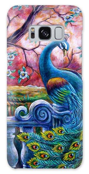 Proud Peacock Galaxy Case by Sebastian Pierre