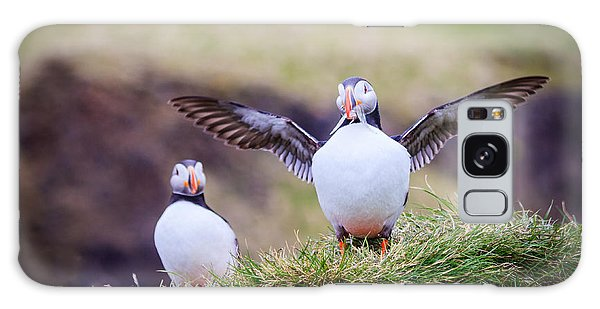 Proud Puffin Galaxy Case