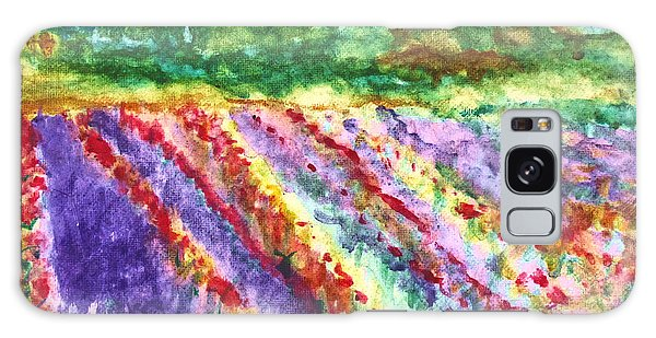 Provence France Field Of Flowers Galaxy Case
