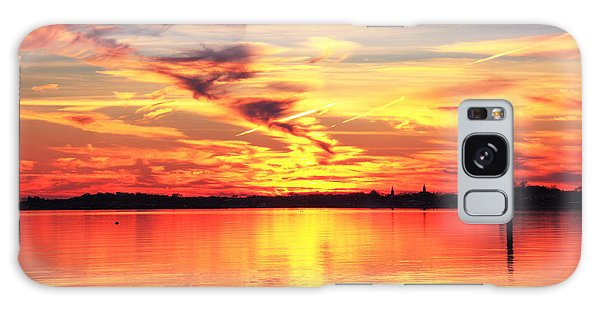 Provincetown Harbor Sunset Galaxy Case by Roupen  Baker