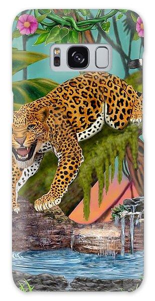 Prowling Leopard Galaxy Case by Glenn Holbrook