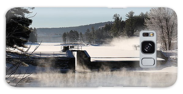 Winter  Pine River Pond  Galaxy Case