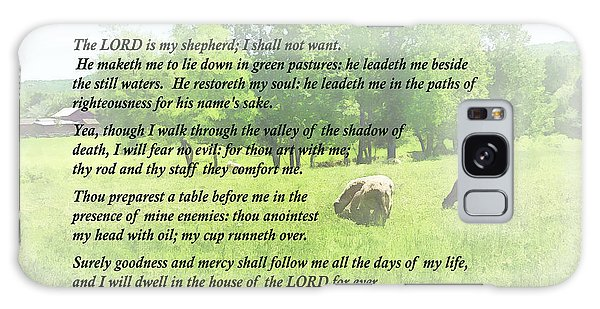 Psalm 23 The Lord Is My Shepherd Galaxy Case