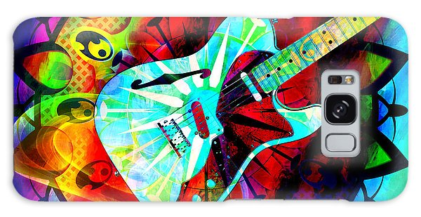 Psychedelic Guitar Galaxy Case by Ally  White