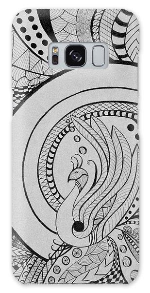 Zentangle Peacock Art Drawing Galaxy Case