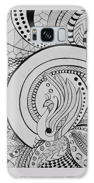 Psychedelic Peacock - Zentangle Drawing - Ai P.nilson Galaxy Case