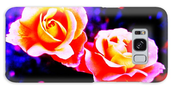 Psychedelic Roses Galaxy Case by Martin Howard