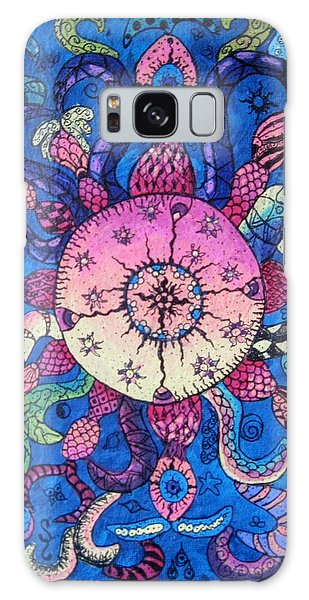 Psychedelic Squid Galaxy Case by Megan Walsh