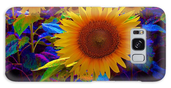 Psychedelic Sunflowers Galaxy Case