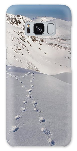 Cairngorms National Park Galaxy Case - Ptarmigan Tracks In Snow by Duncan Shaw/science Photo Library