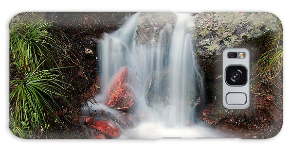 Ptarmigan Trail Waterfall No.2 Galaxy Case by Daniel Woodrum