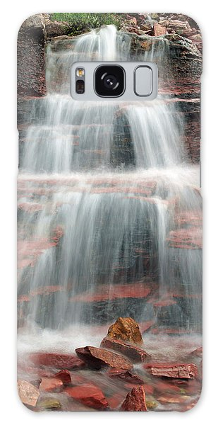Ptarmigan Trail Waterfall No.4 Galaxy Case by Daniel Woodrum