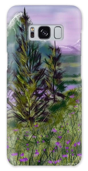 ptg.  Mountain Meadow Pond Galaxy Case by Judy Via-Wolff