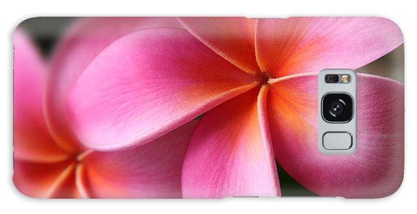 Pua Lei Aloha Cherished Blossom Pink Tropical Plumeria Hina Ma Lai Lena O Hawaii Galaxy Case