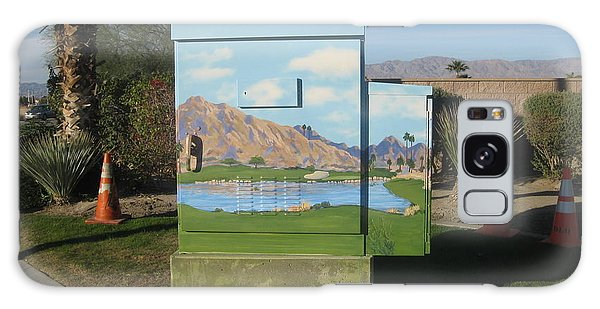 Traffic Signals Galaxy Case - Public Art  17th Green At Silver Rock In La Quinta by Maria Hunt
