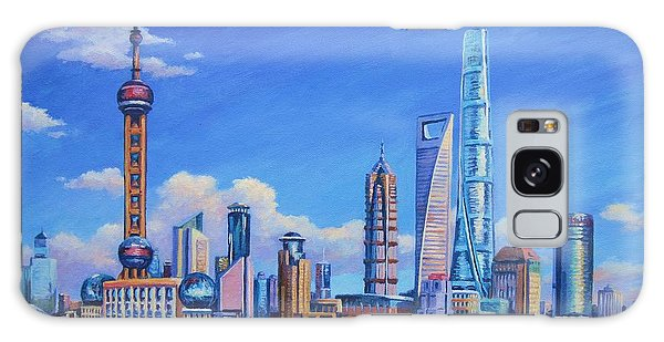 Pudong Skyline  Shanghai Galaxy Case