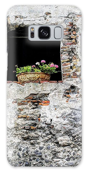 Puebla Window Flowers Galaxy Case by Craig T Burgwardt