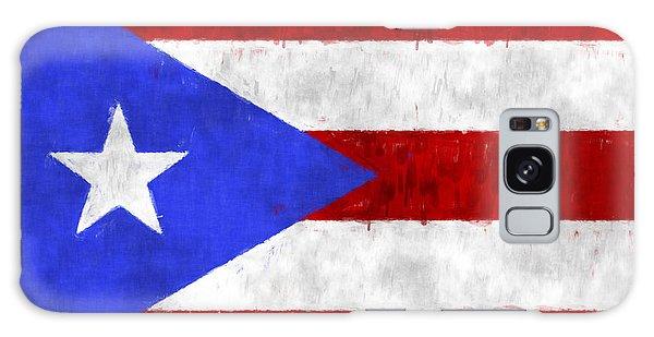 Bahamas Galaxy Case - Puerto Rico Flag by World Art Prints And Designs