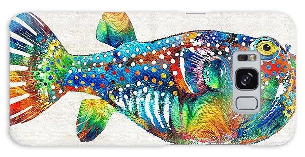 Scuba Diving Galaxy Case - Puffer Fish Art - Blow Puff - By Sharon Cummings by Sharon Cummings