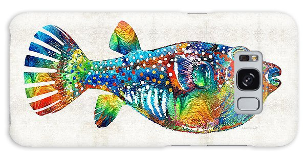 Puffer Fish Art - Blow Puff - By Sharon Cummings Galaxy Case