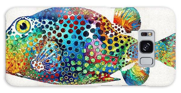 Puffer Fish Art - Puff Love - By Sharon Cummings Galaxy Case