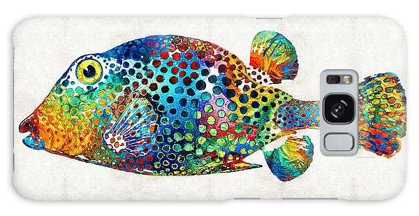 Puffer Fish Art - Puff Love - By Sharon Cummings Galaxy Case