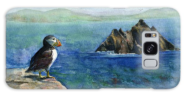 Puffin At Skellig Island Ireland Galaxy Case by John D Benson