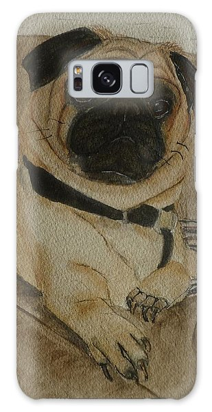 Pug Dog All Ready To Cuddle Galaxy Case