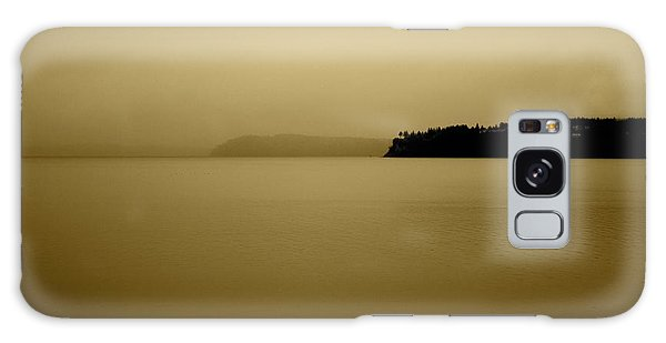 Puget Sound In Sepia Galaxy Case by Kandy Hurley
