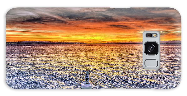 Puget Sound Sunset Galaxy Case