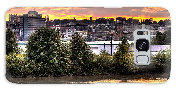 Pulallup River Sunset II Galaxy Case by Rob Green