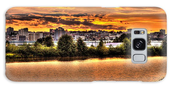 Pulallup River Sunset Galaxy Case by Rob Green