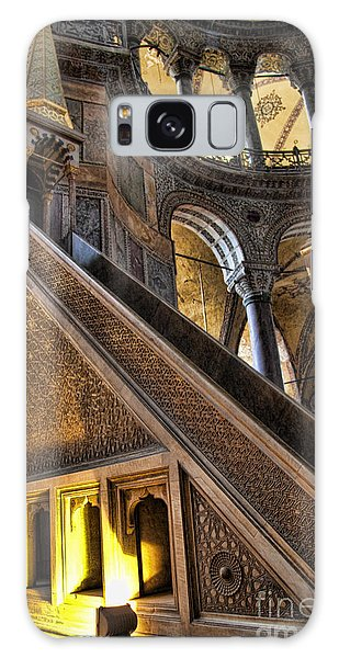 Pulpit In The Aya Sofia Museum In Istanbul  Galaxy Case by David Smith