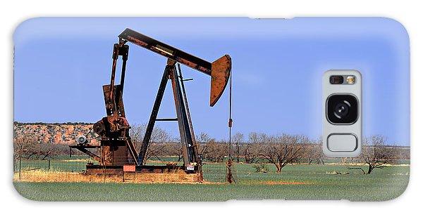 Pump Jack A Texas Icon Galaxy Case by Christine Till
