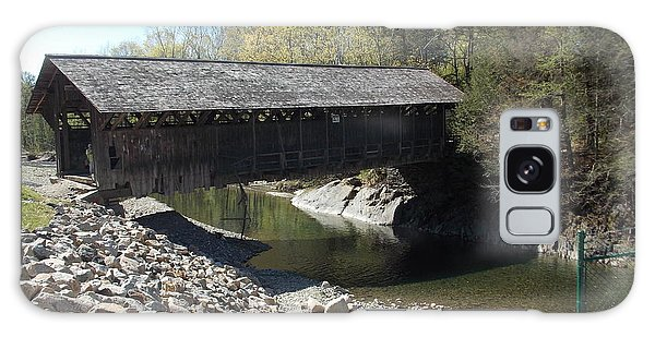Pumping Station Covered Bridge Galaxy Case by Catherine Gagne