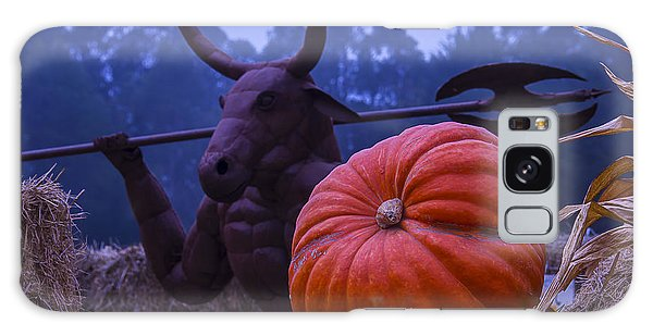 Minotaur Galaxy Case - Pumpkin And Minotaur by Garry Gay