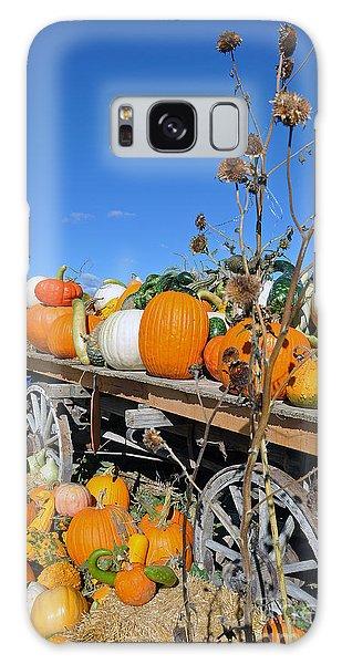 Pumpkin Farm Galaxy Case by Minnie Lippiatt