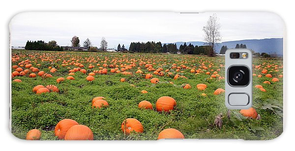 Pumpkin Field Galaxy Case by Joyce Gebauer